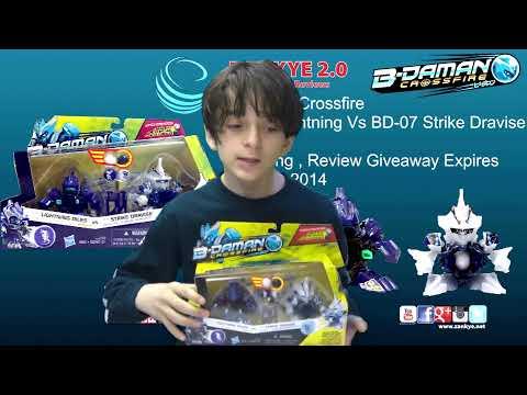B-Daman Crossfire 2 Pack BD-47 Lightning  Diles VS BD-07 Strike Dravise Unboxing Giveaway April 6th