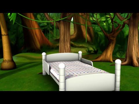 Cinco monitos saltaban en la cama - LittleBabyBum Canciones infantiles HD 3D