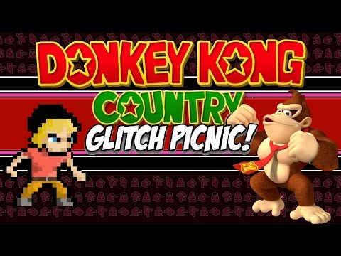 Donkey Kong Country Glitch Picnic | Donkey Kong Country (SNES) Glitches! | MikeyTaylorGaming