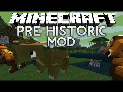 Minecraft: Pre-Historic mod - DINOSAURS IN MINECRAFT! :O [Minecraft 1.4.2 mod review]