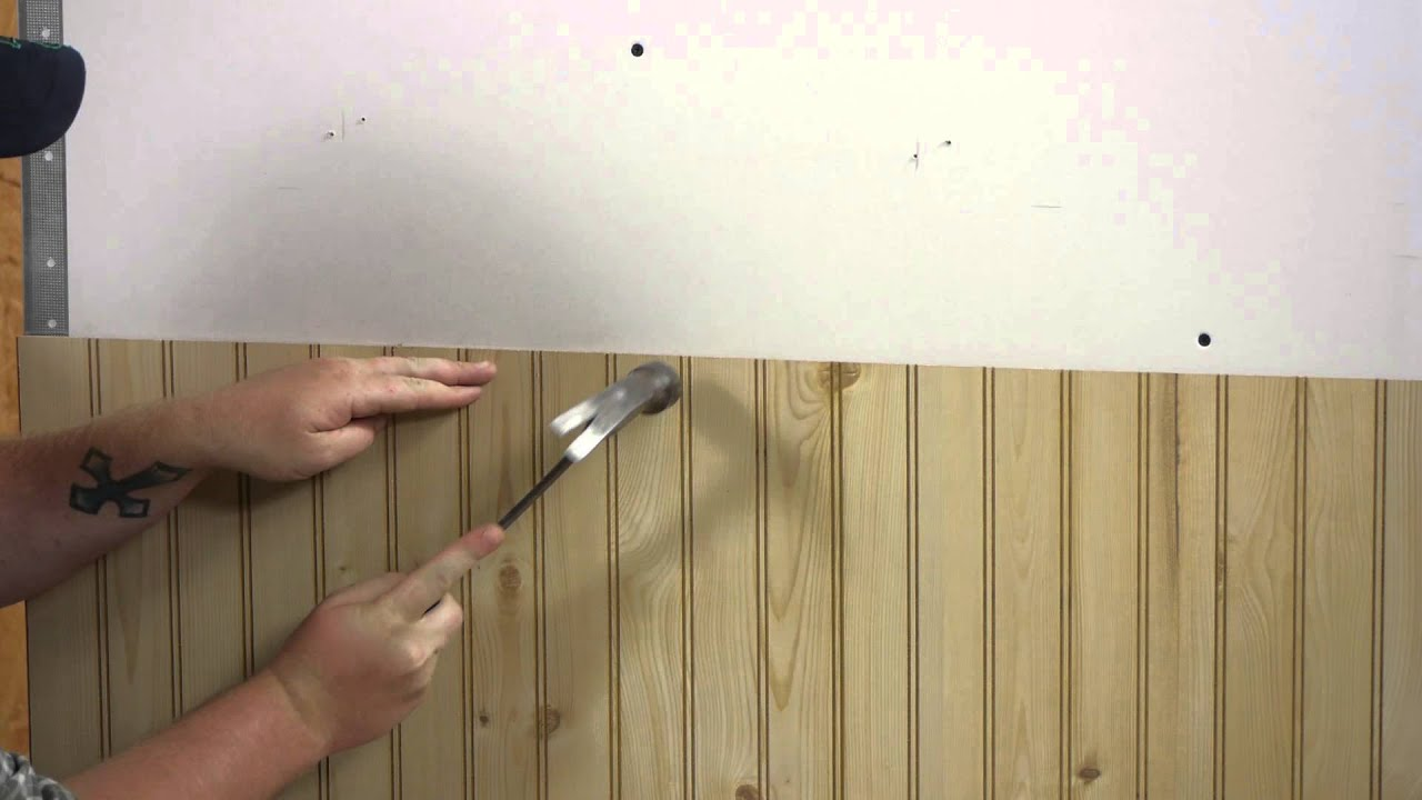 how to install wall paneling walls paneling youtube. Black Bedroom Furniture Sets. Home Design Ideas