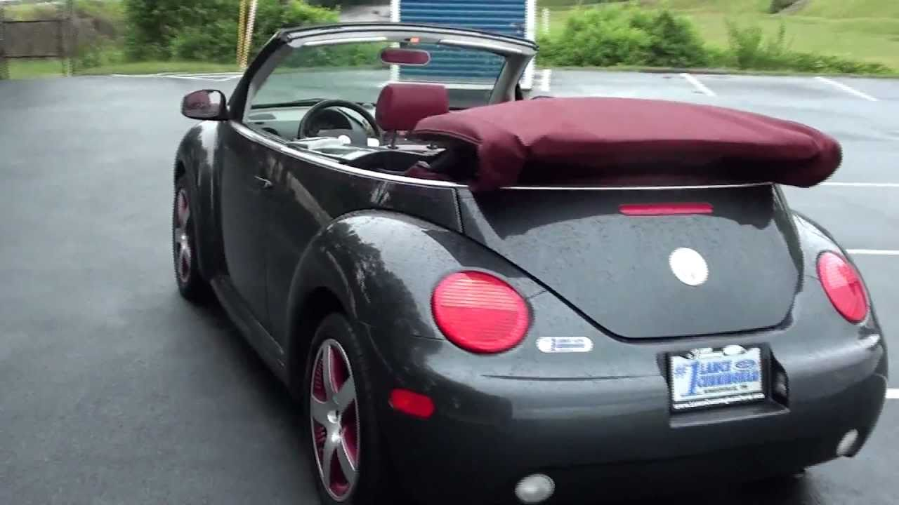 Vw Beetle Convertible For Sale >> FOR SALE 2005 VOLKSWAGEN BEETLE CONVERTIBLE!!!! STK# P5615A - YouTube
