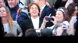 Paul Mccartney at Cycling Event Summer Olmpics 2012