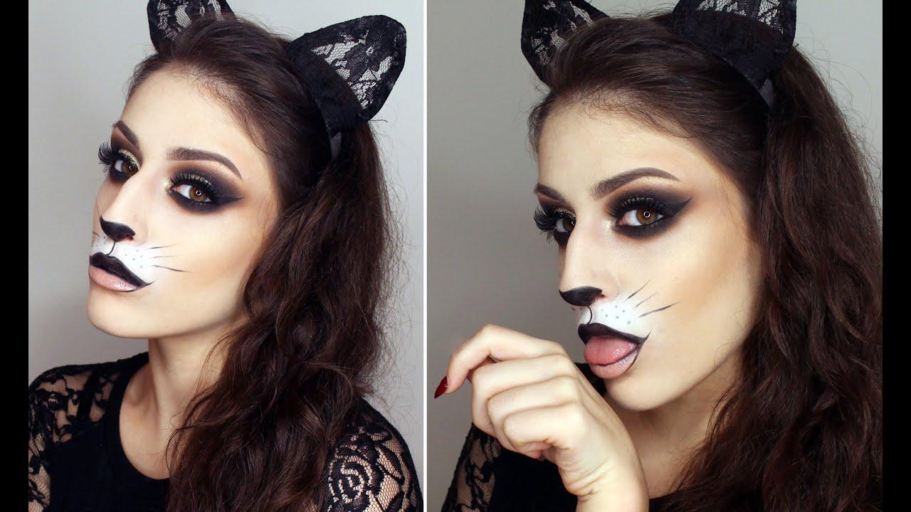 Как сделать кошачий макияж в