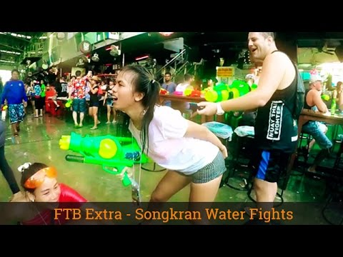 Celebrating Songkran - Thai New Year - Patong Phuket - 2016 - GoPro Hero 4