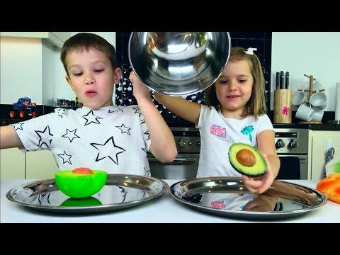 ЧЕЛЛЕНДЖ SQUISHY FOOD 2 ПРОТИВ настоящая ЕДА  / REAL FOOD vs squishy toys CHALLENGE!