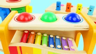 Learn colors for preschool kids with ball pounding