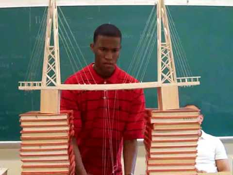Balsa Wood Suspension Bridge First Atempt