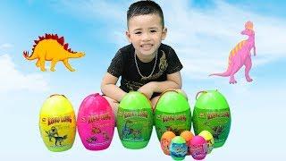 Săn Và Bóc Trứng Khủng Long - Dinosaur Surprise Eggs Opening ❤ Min Min TV ❤