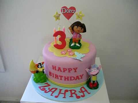 first birthday cake Dora Birthday Cake