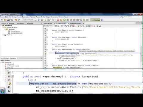 como crear un reproductor  mp3 sencillo en java ó con java manual paso a paso y codigo