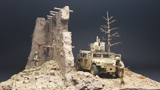 US infantry Afghan house ruins 1/35 scale diorama
