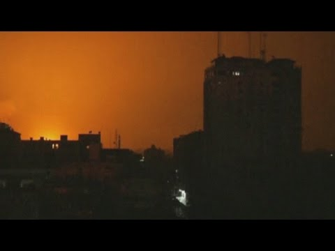 Huge explosion seen over Gaza City as offensive continues
