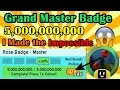 I Got GrandMaster Badge! The Impossible Mission! - Bee Swarm Simulator