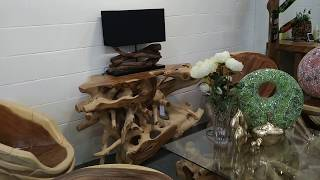 Large Teak Root Console Table - Nos Natura Eco-Luxury living