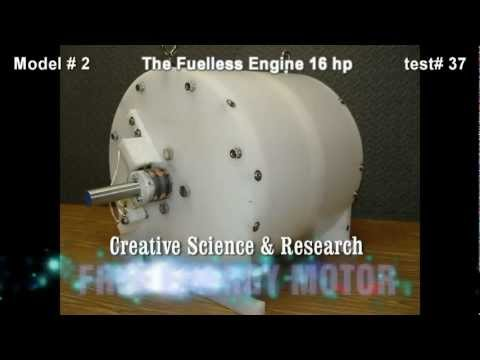 The Fuelless Engine Model # 2 - 16 hp - Free Energy Electric Motor - Self Running Motor