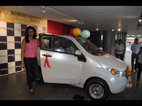 Gul Panag Gets Mahindra Reva E2o Electric Car