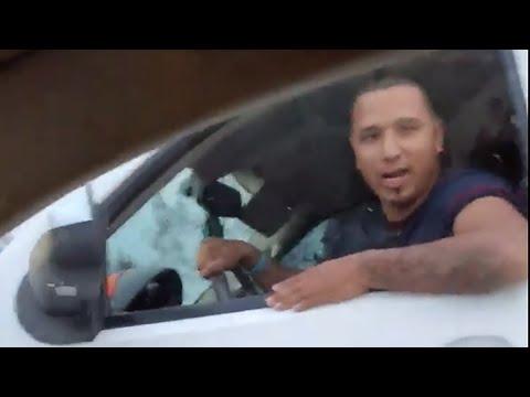 Raw video: Road rage incident caught on camera on U.S. 59 near Splendora, Texas