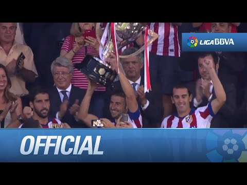 Atlético de Madrid receives La Liga's 2013/2014 Cup
