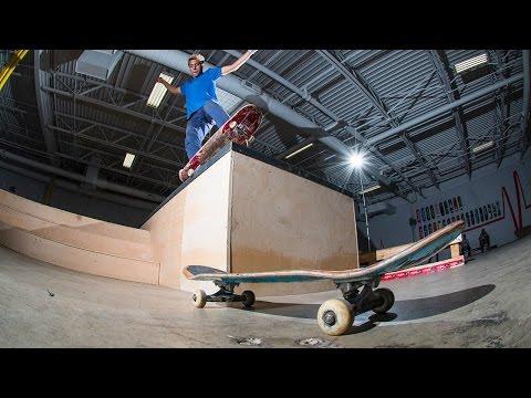 DANGEROUS Skateboarding tricks onto Skateboard!