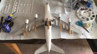 Construction of Revell A380 New Livery
