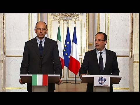 Italy's new prime minister receives France's support