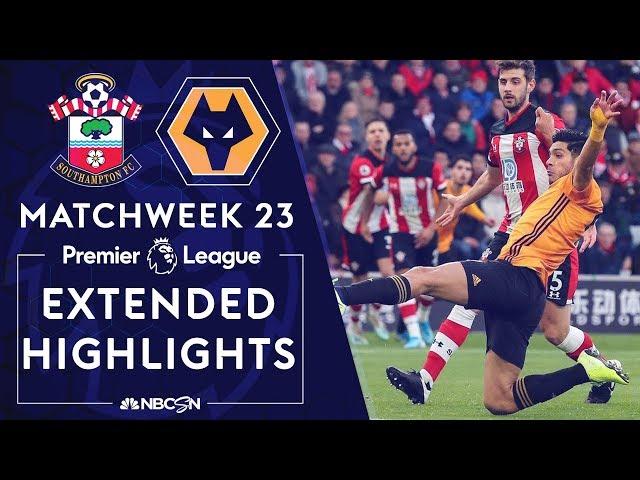 Southampton v. Wolves   PREMIER LEAGUE HIGHLIGHTS   1/18/2020   NBC Sports thumbnail