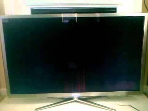 Samsung UN55C8000 240Hz LED 3D 55 inch - Blue/Red Vertical Bars & Distorted Screen