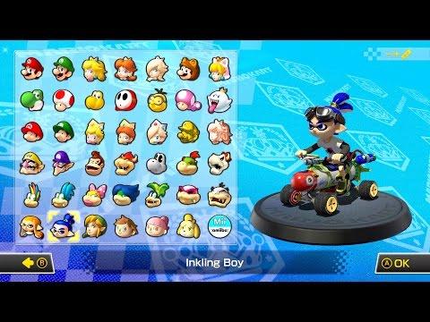 Mario Kart 8 Deluxe - First Look At Inkstriker Kart [Splatoon] (Direct-Feed Switch Gameplay)
