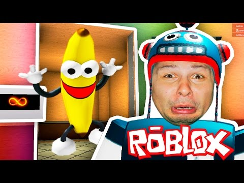 Обычный лифт в  ROBLOX приключения мульт героя CRAZY ТАНЕЦ БАНАНОВ от канала EFG kids children
