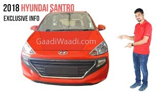 2018 All New Santro Details Leaked - Features & Design Overview