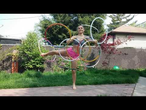 9 hula hoops!