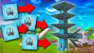 WE STACKED FOUR OF THEM! *PORT-A-FORT TROLLING!* | Fortnite Battle Royale