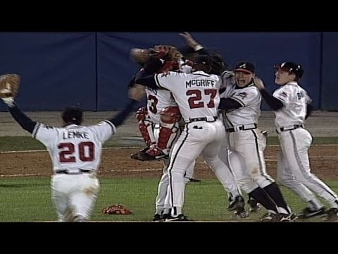 1995 WS Gm6: Braves clinch the 1995 World Series