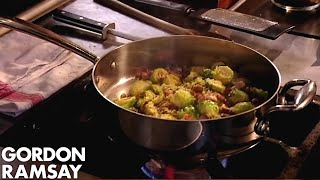 Gordon Ramsay's Brussels Sprouts With Pancetta & Chestnuts