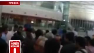 Long queue on emigration center at Ahmedabad international ariport -  Nirmana News