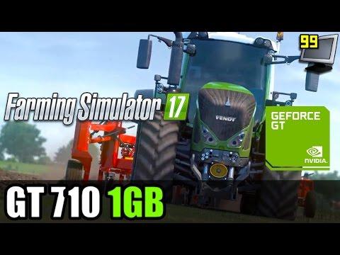 Farming Simulator 17 on GeForce GT 710 - 720p Test
