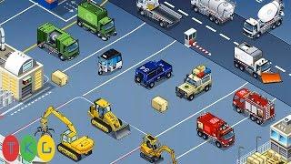 Lắp ráp Xe xúc đất, Máy ủi đất, Xe cần cẩu, Xe tải | Kids Pluzzle Construction 4 | TKG