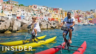 Making Large Mozzarella Balls + Going On A Water Bike Tour In Italy | Travel Dares S2 Ep 4