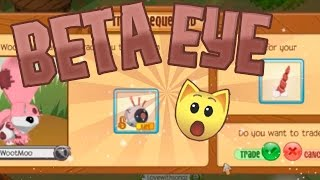 WootMoo Trades me a BETA EYE! MY REACTION | Animal Jam