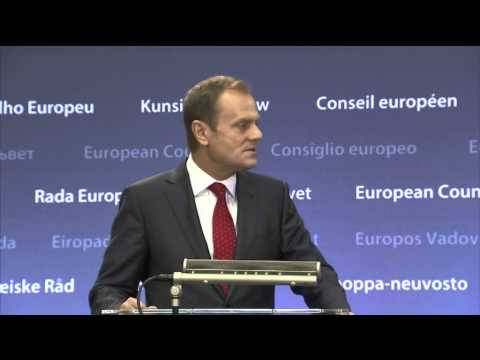 The handover ceremony between Herman Van Rompuy and Donald Tusk