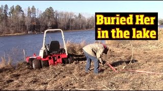 Stuck in the Mud while doing a Review on Ventrac tractors