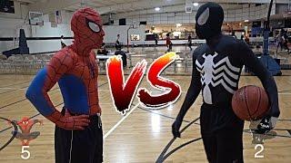 SPIDERMAN VS. VENOM BASKETBALL!!