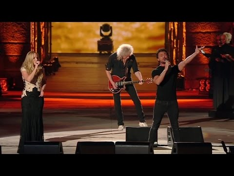 Brian May & Kerry Ellis performing live at the Arena di Verona, June 2015