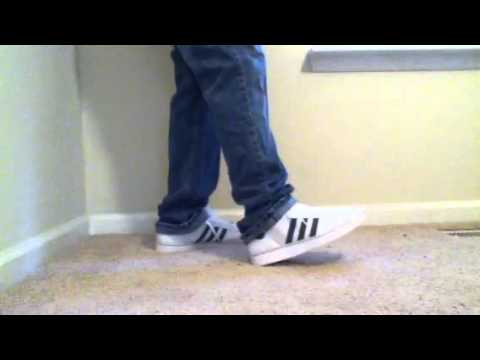 Adidas Superstar 2 White/Charcoal Grey on feet