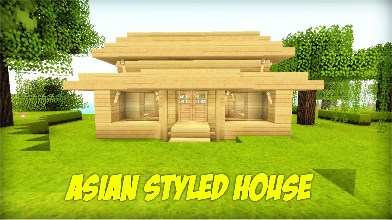 how to build 10 an asian styled house in minecraft youtube. Black Bedroom Furniture Sets. Home Design Ideas