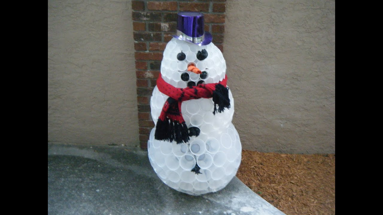 Diy how to make snowman in florida youtube for How to create a snowman