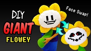 DIY GIANT Undertale Flowey Plushie with Interchangeable Face! Undertale Plush (FREE Pattern)