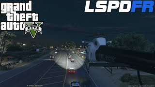 GTA 5 LSPDFR Police Mod Day 40 | Air Support Helicopter Patrol | Cali Style Car Chases