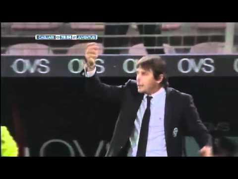 cagliari juventus - esultanza dello stadio al gol del 3-2 dell'inter